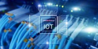 Internet de las cosas IoT Concepto de la tecnolog?a de red de Big Data Cloud Computing fotografía de archivo libre de regalías