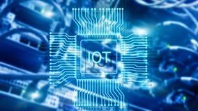 Internet de las cosas IoT Concepto de la tecnolog?a de red de Big Data Cloud Computing imágenes de archivo libres de regalías