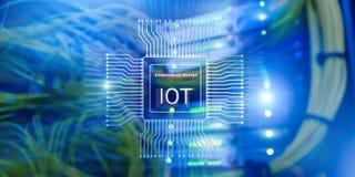 Internet de las cosas IoT Concepto de la tecnolog?a de red de Big Data Cloud Computing fotos de archivo libres de regalías