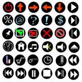 Internet de los iconos Fotos de archivo
