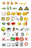 Internet de los iconos stock de ilustración