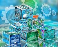 Internet de los ladrillos Imagen de archivo libre de regalías