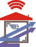 Internet de maison de connexion de navigateur de vitesse photos stock