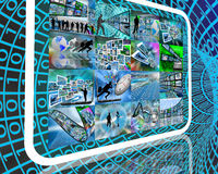 Internet de planète Photos stock