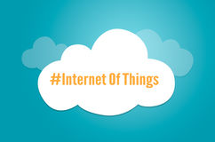 Internet de symbole graphique de nuage d'idée d'IoT de choses Photo stock