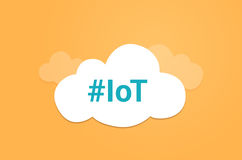 Internet de symbole graphique de nuage d'idée d'IoT de choses Photo libre de droits