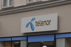INTERNET DE TELENOR E SERVIÇO TELEFÔNICO PEROVIDER Foto de Stock