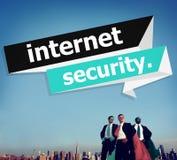Internet-de Veiligheidsbescherming Phishing verhindert beschermt Concept Stock Afbeelding