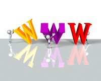 Internet de WWW Photos libres de droits