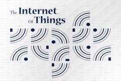 Internet del concepto de las cosas Fotos de archivo libres de regalías