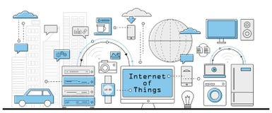 Internet del concepto de las cosas Imágenes de archivo libres de regalías