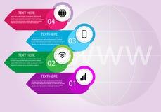 Internet del concetto di cose Il grafico del infographics di processo di Internet fotografia stock libera da diritti