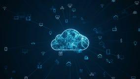 Internet del concetto di cose IOT Rete di Big Data Cloud Computing