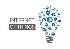 Internet del fondo di concetto di cose (IOT) Illustrazione di vettore che rappresenta le nuove idee innovarici Fotografie Stock Libere da Diritti