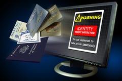Internet del hurto de identidad Imágenes de archivo libres de regalías