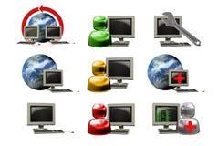 Internet del icono Fotos de archivo