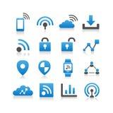 Internet del icono de las cosas Imagenes de archivo