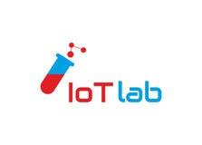 Internet del logotipo de las cosas Imagen de archivo libre de regalías