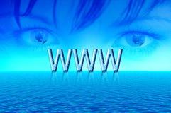 Internet del mondo Fotografia Stock Libera da Diritti