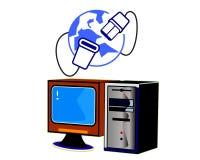 Internet del ordenador Imagen de archivo