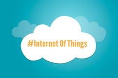 Internet del simbolo grafico della nuvola di idea di IoT di cose Fotografia Stock