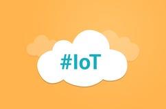 Internet del simbolo grafico della nuvola di idea di IoT di cose Fotografia Stock Libera da Diritti