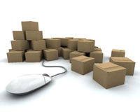 Internet delivery Stock Image