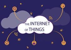 Internet della notte di cose Immagini Stock Libere da Diritti