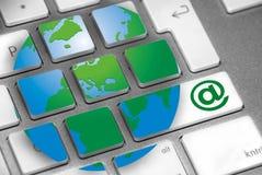 Internet della tastiera Fotografie Stock Libere da Diritti