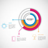 Internet delle cose con gli elementi infographic Fotografie Stock