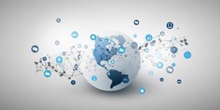 Internet delle cose, concetto di progetto di Cloud Computing immagini stock libere da diritti