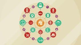 Internet delle cose e del concetto domestico astuto royalty illustrazione gratis