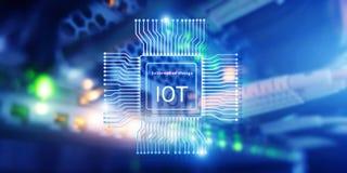 Internet delle cose IoT Concetto di tecnologia di rete di Big Data Cloud Computing illustrazione di stock