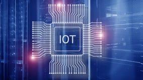 Internet delle cose IoT Concetto di tecnologia di rete di Big Data Cloud Computing illustrazione vettoriale