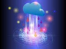 Internet delle cose, trasferimento di tecnologia di vettore della nuvola Immagini Stock Libere da Diritti
