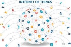 Internet des choses concept et de la technologie informatique de nuage Photo stock