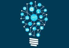 Internet des Konzeptes der Sachen (IoT) Digital-Revolution mit der neuen Technologie, die neue Möglichkeiten erschließt lizenzfreie abbildung