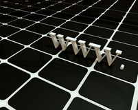Internet des World- Wide Web3d symbal Stockbild