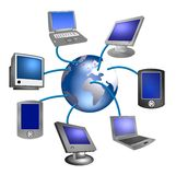 Internet Device Network Stock Images