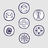 Internet devices icon set Stock Photography