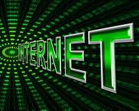 Internet di dati significa il World Wide Web e WWW Immagine Stock Libera da Diritti