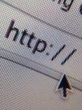 Internet di indirizzo del HTTP del sito Web Fotografia Stock Libera da Diritti