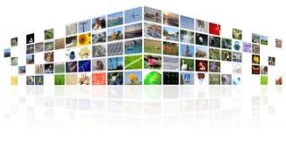 Internet di mezzi di informazione della TV illustrazione vettoriale