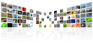 Internet di mezzi di informazione della TV fotografia stock libera da diritti