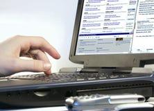 Internet di ricerca a scansione Fotografie Stock Libere da Diritti