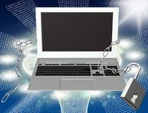 Internet di sicurezza Fotografia Stock