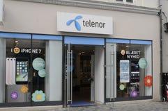 INTERNET DI TELENOR E FORNITORE DEL TELEFONO DI SMPART Immagine Stock Libera da Diritti