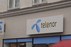 INTERNET DI TELENOR E SERVIZI TELEFONICI PEROVIDER Fotografia Stock Libera da Diritti