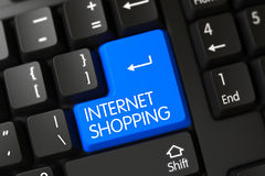 Internet die - Computertoetsenbord winkelen 3d Stock Foto's