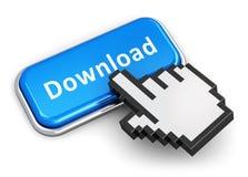 Internet die concept downloaden Stock Afbeelding
